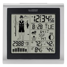 La Crosse Technology Wireless Forecast Station with Fisherman Icon-308-1451 - The Home Depot