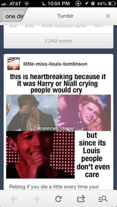 WE LOVE YOU LOUIS!!! AND THE TEARS STREAM DOWN MY FACE!!!! DONT CRY, BABE!!!!! I LOVE YOU LOUIS!!!!!!