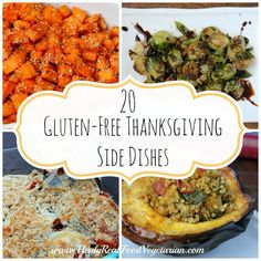 20 Delicious Gluten-Free Thanksgiving Side Dishes @ Healy Eats Real #thanksgiving #glutenfree #vegetarian