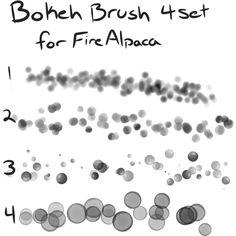 Bokeh brush set for FireAlpaca (Free) by Mo-fox
