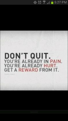 "One of my favorite speakers I have listened to is Erich Thomas. He has one of my favorite quotes, ""Dont quit. You're already in pain. You're already hurt. Get a reward from it."" Mr. Thomas was speaking to a group of young men to inspire them to work hard at anything they do. This quote is saying to not quit because youce already came so far. Through the struggles and successes its been a long hard battle with your inner self so dont quit if you have already came this far. And when he says…"