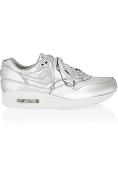 Nike Silver Leather 'Air Max' Sneakers