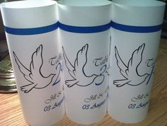 6 Kissing Doves Table Number LUMINARY Towers Love by evelynne99, $14.70