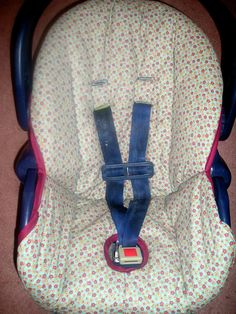carseat cover that you trace from original (rather than cutting up old carseat cover)