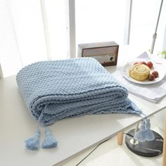 Our Knitted Throw Blanket With Tassels will cozy up your favorite spaces. Find cozy textured knit throws and other home decor accessories at the Apollo Box. Home Decor Accessories, Decorative Accessories, Wool Baby Blanket, Apollo Box, Baby Cover, Baby Boy Or Girl, Duck Egg Blue, Knitted Throws, Fashion Colours