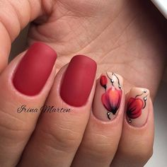 53 Most Fabulous And Gorgeous 💖 Red Short Matte Nails Idea For Prom And Wedding 💅 - Nail Design 20 😊💙𝕽𝖊𝖉 𝕸𝖆𝖙𝖙𝖊 𝕹𝖆𝖎𝖑𝖘 𝕯𝖊𝖘𝖎𝖌𝖓 💙😊 💓 💓 💓 Gelish Nails, Nail Manicure, Nail Polish, Red Nail Designs, Acrylic Nail Designs, Acrylic Nails, Red Matte Nails, Nagellack Design, Wedding Nails Design