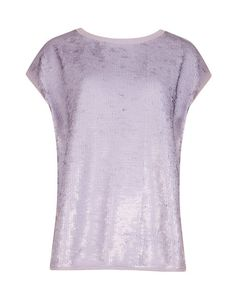 Sequined top - Light Purple | Tops & T-shirts | Ted Baker UK
