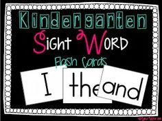 FREEBIE Sight word cards!