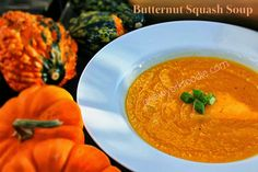 Butternut Squash Soup by A New York Foodie is a delicious creamy soup that is dairy free that is perfect for the Thanksgiving and Winter seasons! Squash Vegetable, Healthy Soup Recipes, Skinny Recipes, Healthy Drinks, Healthy Foods, Diet Recipes, Butternut Squash Soup, Soup And Sandwich, Homemade Soup