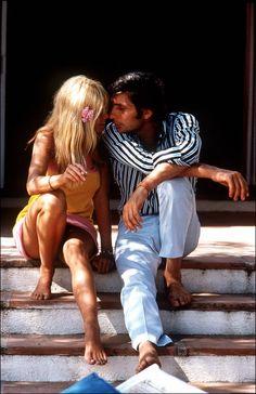 Gunter Sachs und Brigitte Bardot im Sommer 1966