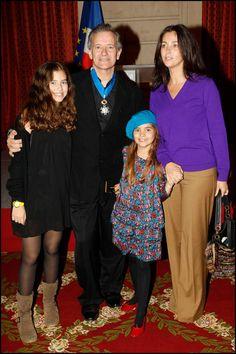 Cristiana Reali avec Toscane et Elisa, ses deux filles issues de son histoire d'amour avec Francis Huster