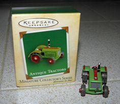 Hallmark 2004 Keepsake Miniature Antique Tractor Ornament