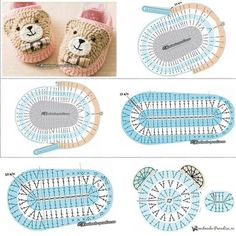Crochet Baby Booties Tutorial, Crochet Baby Dress Pattern, Crochet Baby Boots, Crochet Baby Sandals, Crochet Socks, Crochet Motifs, Crochet Patterns Amigurumi, Baby Knitting Patterns, Crochet Granny