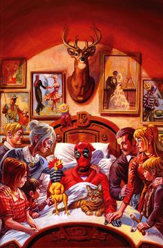 A sick day for deadpool