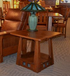 Limbert Style Mission Arts And Crafts End Table Craftsman Interior Furniture