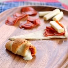 Pepperoni Cheese Stick Roll Ups awesome for a party