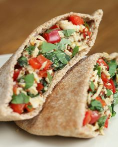 Image result for Scrambled Chickpea and Spinach Pitas