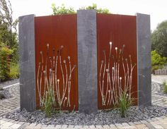 The Effective Pictures We Offer You About Garden Planning drought tolerant A quality picture can tell you many things. Metal Screen, Metal Fence, Metal Sculpture Wall Art, Metal Art, Outdoor Art, Outdoor Rooms, Garden Screening, Screening Ideas, Privacy Panels