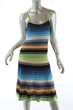 Design; Missoni Wool Multi Wow Skirt Sz 40 Novel In