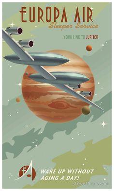 Jupiter Travel Poster by stevethomasart | Redbubble