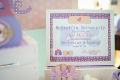 Doc McStuffins Birthday Party Ideas   Photo 1 of 86   Catch My Party