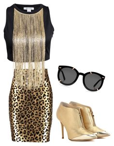 """""""ROCKSTAR"""" by carlafashion-246 ❤ liked on Polyvore featuring Milly, Karen Walker, Jimmy Choo, women's clothing, women's fashion, women, female, woman, misses and juniors"""