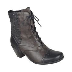With Remonte's Annemarie D1271 Granny Boot, stylish fun meets lightweight and shock absorbing style. This mid-calf boot features a removable insole which offers a custom fit so that you can wear it al