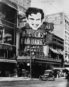 a Douglas Fairbanks movie playing at the Royal Theater, Kansas City, Missouri, 1927-1931