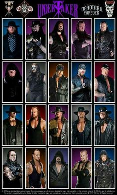 The Undertaker throughout the years