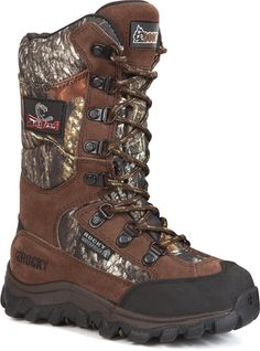 3679 Rocky Kid's Lynx Outdoor Hunting Boots - Camo