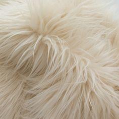 Faux Fake Fur Beige Mongolian 60 Inch Fabric by by LuxuryFauxFur