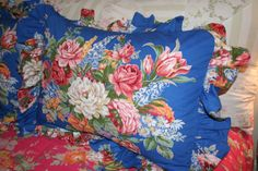 Ralph Lauren vintage Melissa Beach House.  This is a hot print on the secondary market.  The blue is my favorite, but the print is also available with red and white backgrounds.