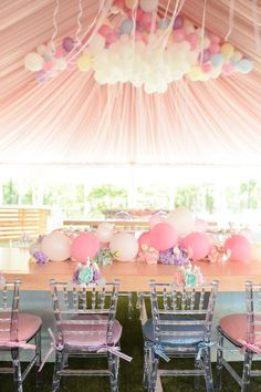Kara's Party Ideas Dream, Believe & Wish Pastel Unicorn Birthday Party Unicorn Birthday Parties, Unicorn Party, Baby Birthday, First Birthday Parties, Birthday Party Themes, First Birthdays, Princess Birthday, Deco Ballon, Slumber Parties