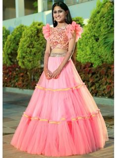 Beautiful Net Lehenga Choli at reasonable price Cash on delivery available Order now Kids Lehenga Choli, Lehenga Choli Wedding, Designer Bridal Lehenga, Net Lehenga, Party Wear Lehenga, Wedding Sari, Designer Sarees, Half Saree Designs, Choli Designs