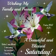 Blessed Saturday,