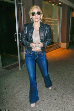 On the town: Lady Gaga was spotted Tuesday evening out and about in New York City...