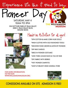 'Round the Rock: Williamson Museum Pioneer Day ~ May 4, 2013