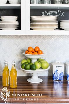 Compilation of Farm House Kitchens. Love this backsplash from Miss Mustard Seed.