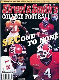 1998 Street and Smith College Football- Jamal Lewis, Champ Bailey Cover