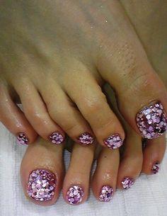 Toe nails, glitter toe nails и beauty nails. Glitter Toe Nails, Prom Nails, Gel Nails, Manicure, Polish Nails, Toenails, Pink Glitter, Pedicure Designs, Toe Nail Designs