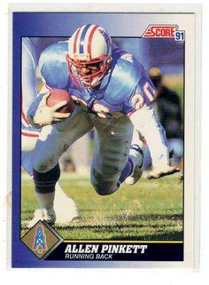 Sports Cards Football – 1991 Score Allen Pinkett – 2 Card Lot – Free Shipping