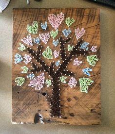 Heart Tree String Art by WildeAshDesigns on Etsy