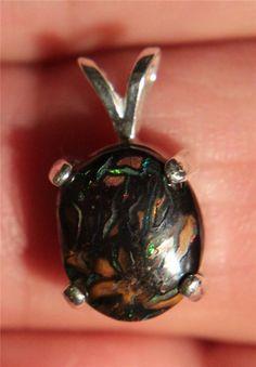 No Reserve Auction 7 66 Ct Silver Koroit Boulder Opal Pendant | eBay