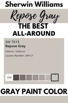 Sherwin Williams Repose Gray is my favorite gray paint color. Find out why this gray paint color is the ultimate neutral color for your home. #paint colors #gray #home #interiordesign