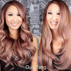 My #rosegold hair! Please credit the stylist when spreading their work around! I have seen so many online thieves stealing images and claiming it! In respect, always show your love by giving credit to the artist or stylist! Your integrity will be appreciated! #guytang #guytangfavorites my model @clarahwangg