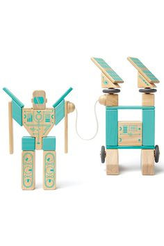 Tegu Fair Trade Wooden Toys - 32-piece Magnetron Set - Baby and Kids - Sale