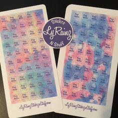 Pay Bills Flags for Passion Planner, Erin Condren, Filofax, Bujo, Kikkik, Happy Planner.. by LyRainzStickrzNStuff on Etsy