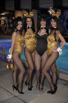 of Playboy pairs pantyhose two wear bunnies