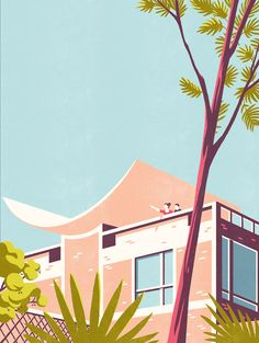 The Paris-based illustrator has created four wonderful illustrations for the latest issue of the airline's in-flight magazine.