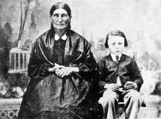 Julie Lagimonière Riel (non-Aboriginal, daughter of Jean-Baptiste Lagimoniere Jr. and Marie-Anne Gaboury) with grandson Jean-Louis Riel. Canadian History, Native American History, Native American Indians, Native Americans, Canadian Prairies, Aboriginal Culture, Mystery Of History, Red River, Canada